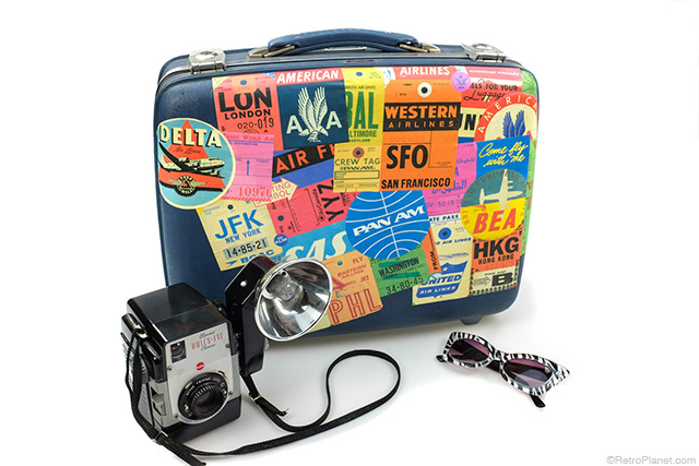 Suitcase Decoupage