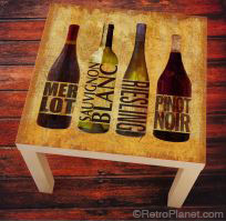 Wine Bottles LACK Decal
