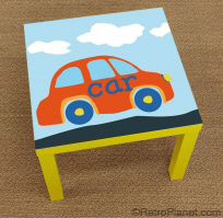 Car Tabletop Decal