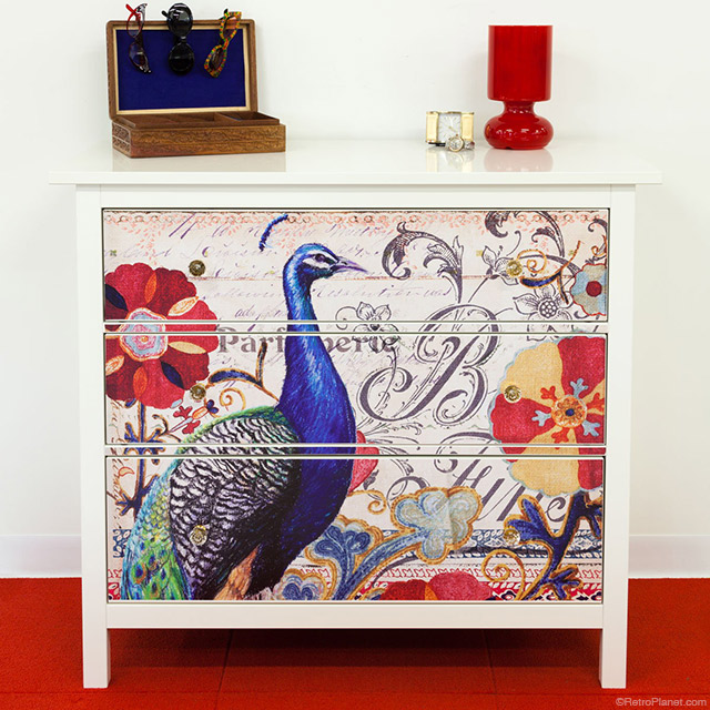 Peacock Profile Dresser Decals