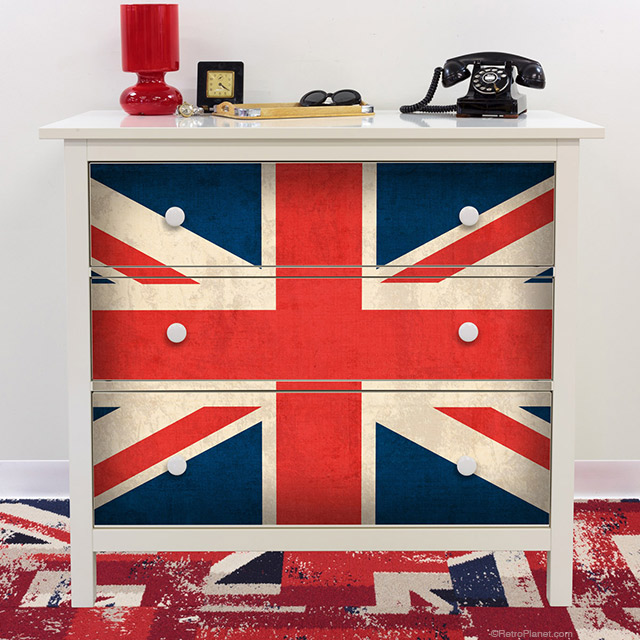 Union Jack HEMNES Dresser Decals