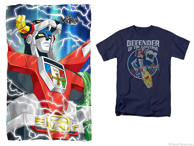 Voltron throw and tee
