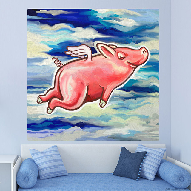 Flying Pig Wall Art