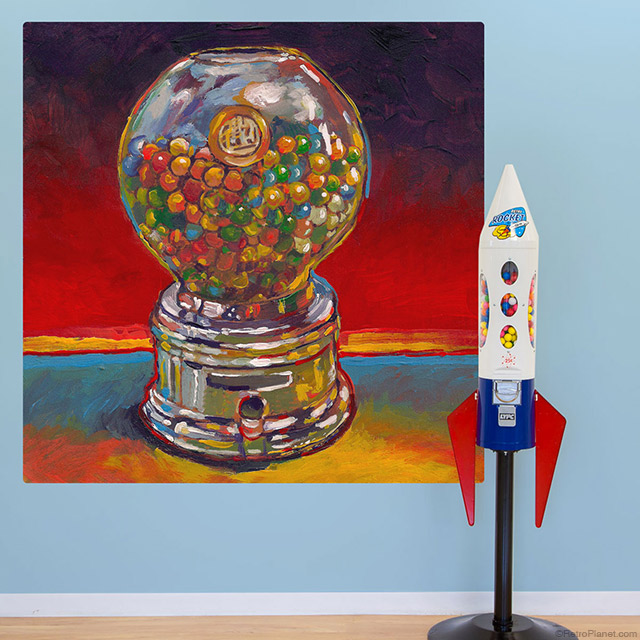Gumball Machine Wall Mural Art