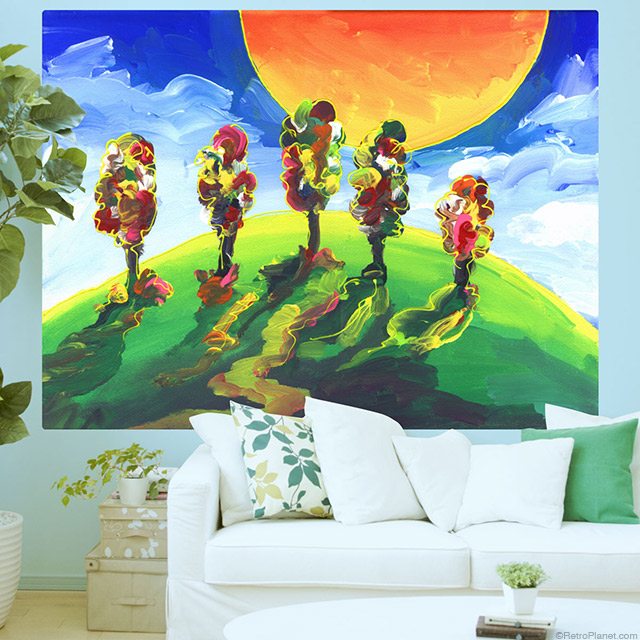 Artisitic Trees Wall Mural