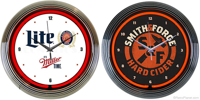 Miller Lite and Hard Cider Clocks