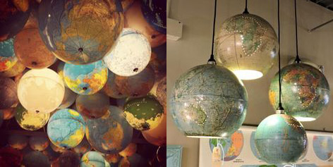 Cool Decorating Ideas With Vintage Globes