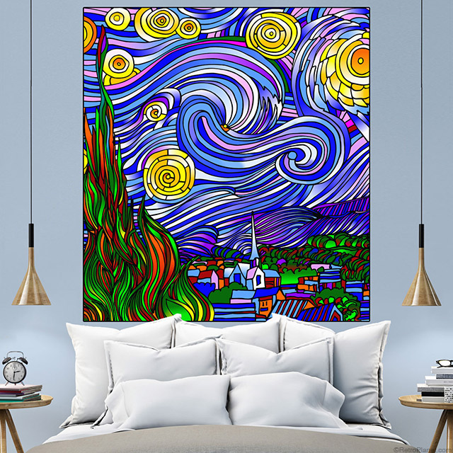 Starry Night Inspired Wall Decal