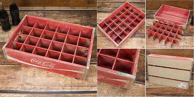 Coca Cola Wood Soda Crates Vintage Style Flea Market Decor