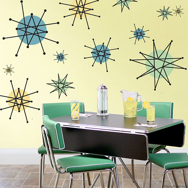 We Also Have An Ortment Of Wall Decals Including Borders Allowing You To Give Any Room A 50s Look