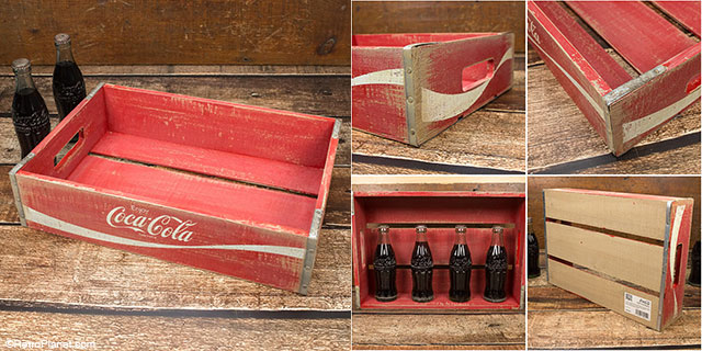 The Half Size Coca Cola Crate Is Another Variation On E Bottle Crates Note Great Metal Corners That Add Durability And A Vintage Look