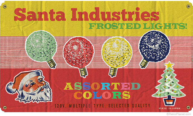 Santa Industries Lights Sign