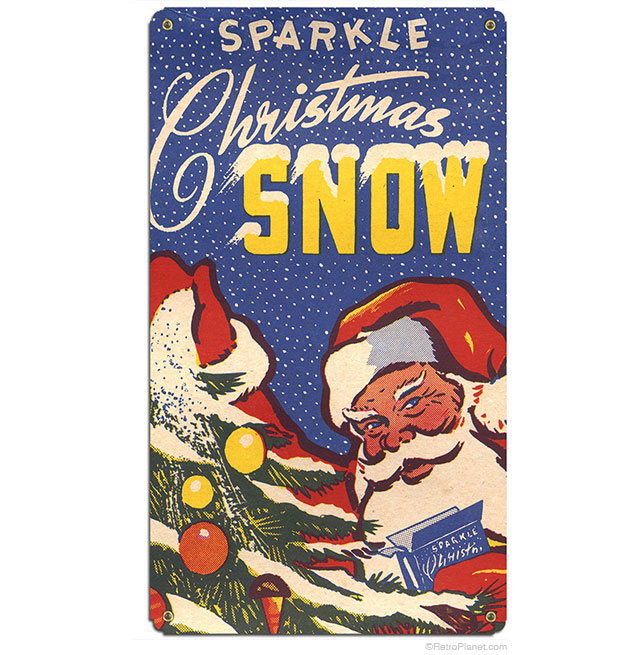 Sparkle Snow Vintage Box Sign