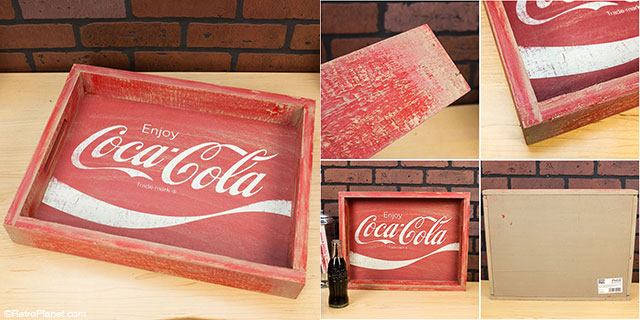 Coca-Cola Wooden Tray