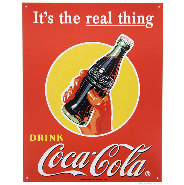 Coke Real Thing Sign