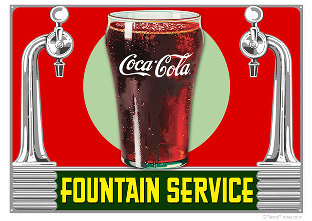 Fountain Service Sign