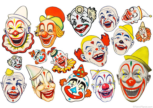 Assorted Clown Stickers