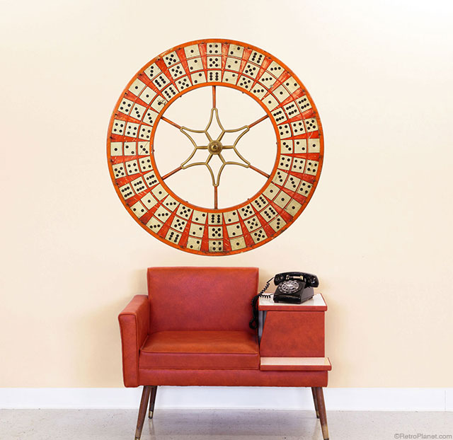 Domino Wheel Wall Decal