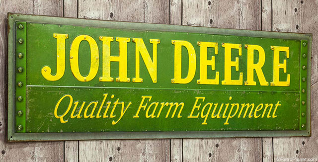 Narrow John Deere Sign