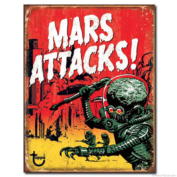 Mars Attacks Trading Card Sign
