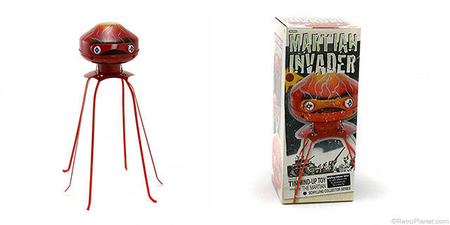 Martian Invader Walking Tin Toy