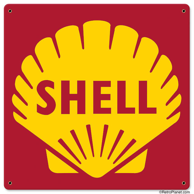 Shell Gas And Oil Advertising Signs