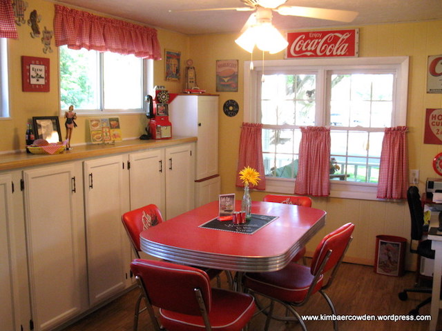 Vintage 1950 39 s kitchen renovation for 50s diner style kitchen