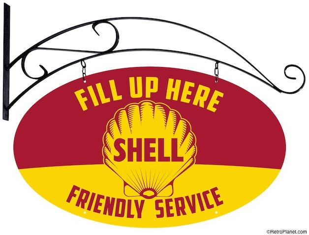 Friendly Service Shell Sign