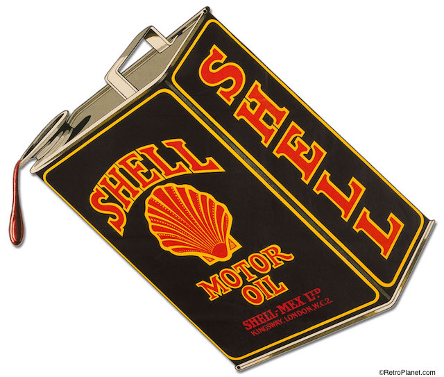 Shell Oil Can Cut Out