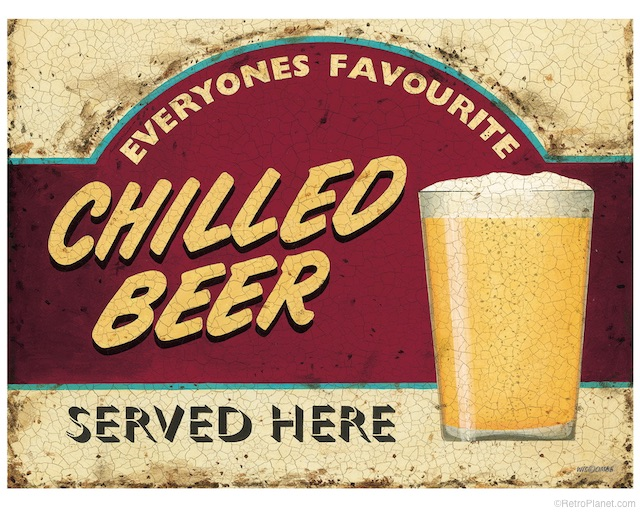 Chilled Beer Sign