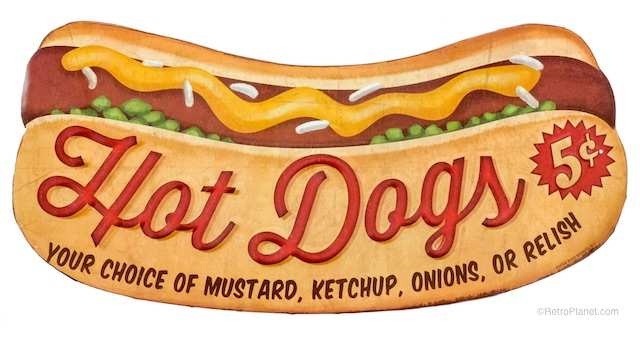 Cut Out Hot Dog Sign