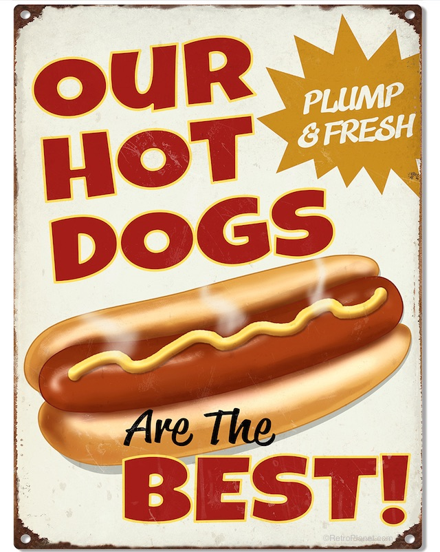 Best Plump Hot Dog Sign