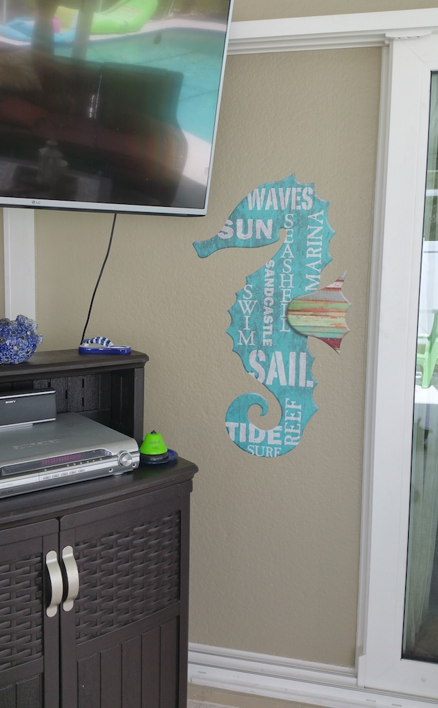 Seahorse Decal On Wall