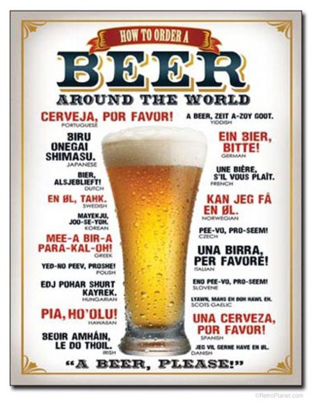 World Beer Sign