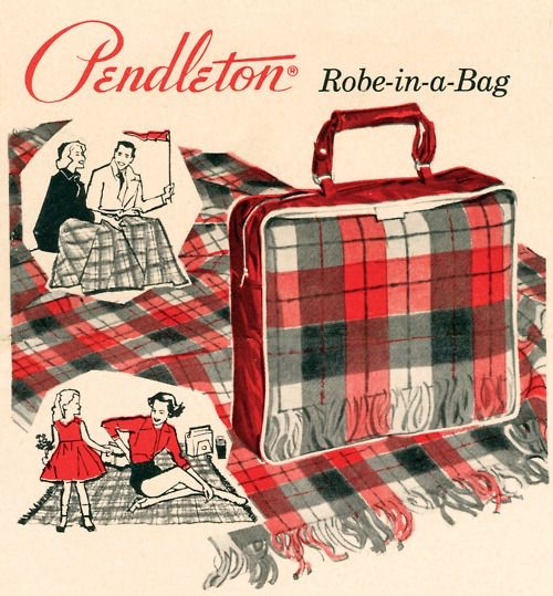 Pendleton Plaid Robe-In-A-Bag
