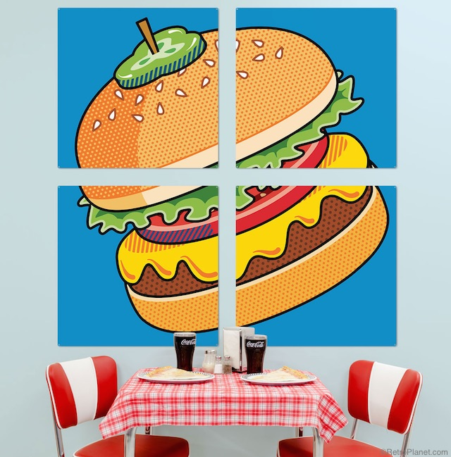 Burger Wall Art