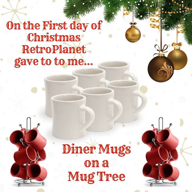 Diner Mugs on a Mug Tree