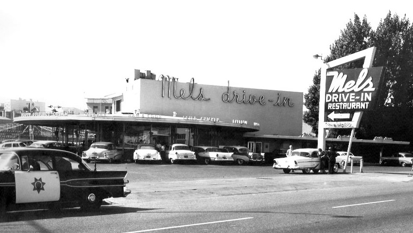 P O Of Mels Drive In San Francisco California About 1953