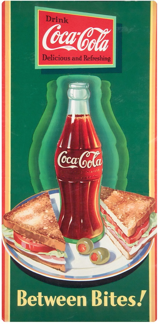 Vintage Coke Ads Featuring Coca-Cola And Food