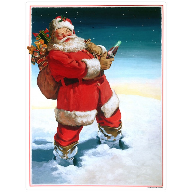 Coke Santa With Toys Decal