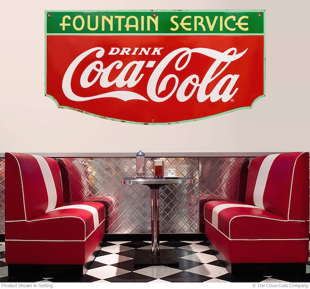 Large Fountain Service Wall Decal Diner