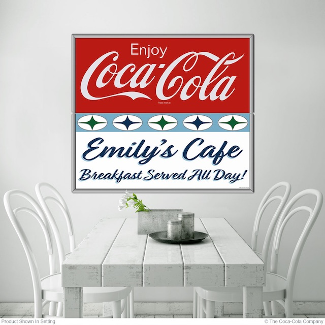 50s Style Enjoy Coke Personalized Decal
