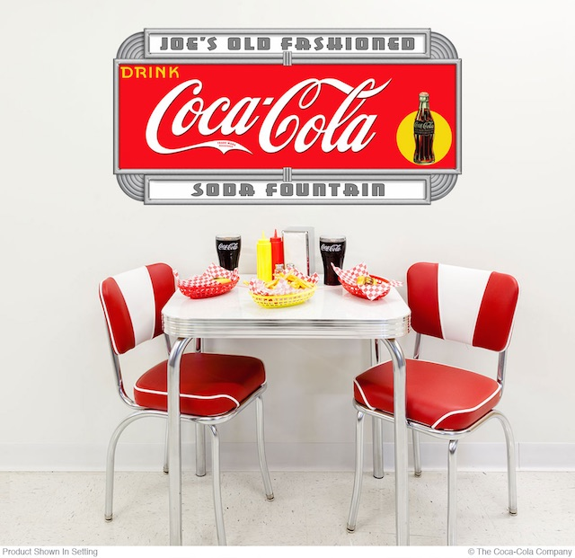 Soda Fountain Personalized Wall Decal
