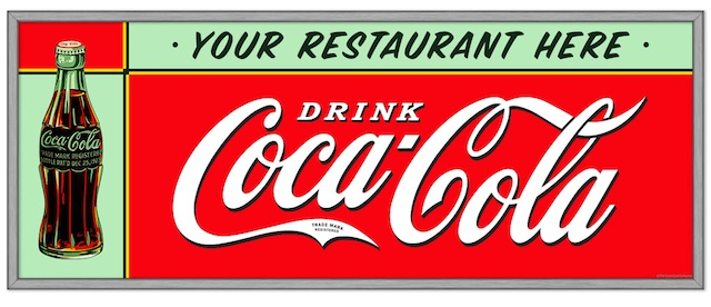 Large Personalized Coca-Cola Wall Decal