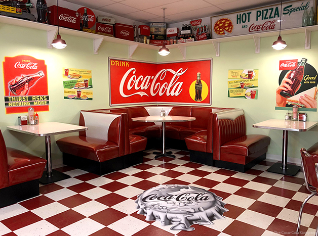 Break Room Decorated in Coke Decor