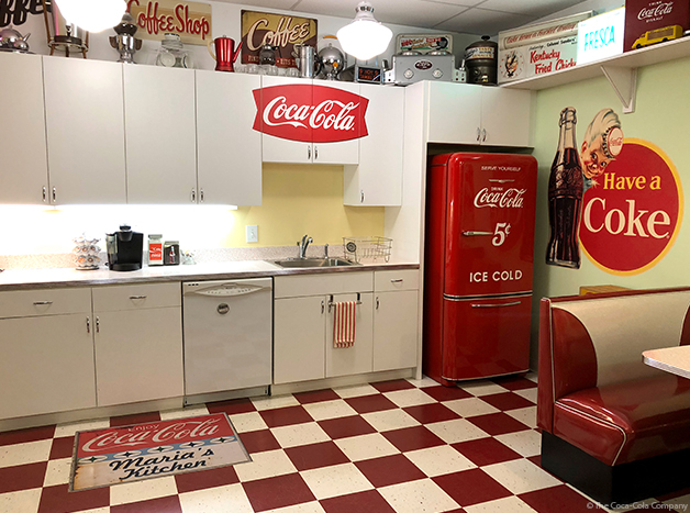 Coke Cabinets and Fridge