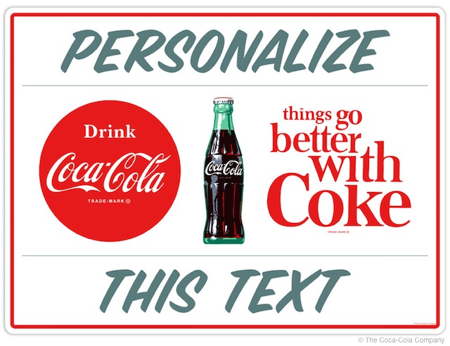 Personalizable Coke Sticker