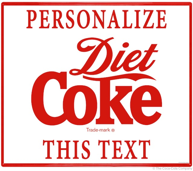 Diet Coke Custom Stickers