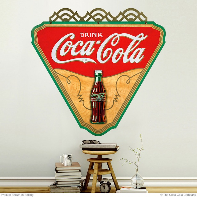 Vintage Style Coke Decal