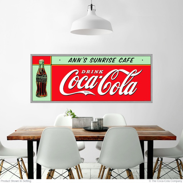 Ann's Cafe Coke Decal